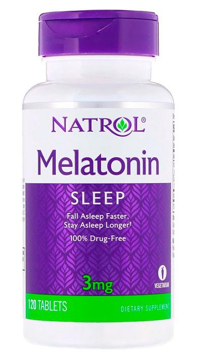 Купить NATROL Добавка биологически активная к пище Мелатонин / Melatonin 3 мг 120 таблеток