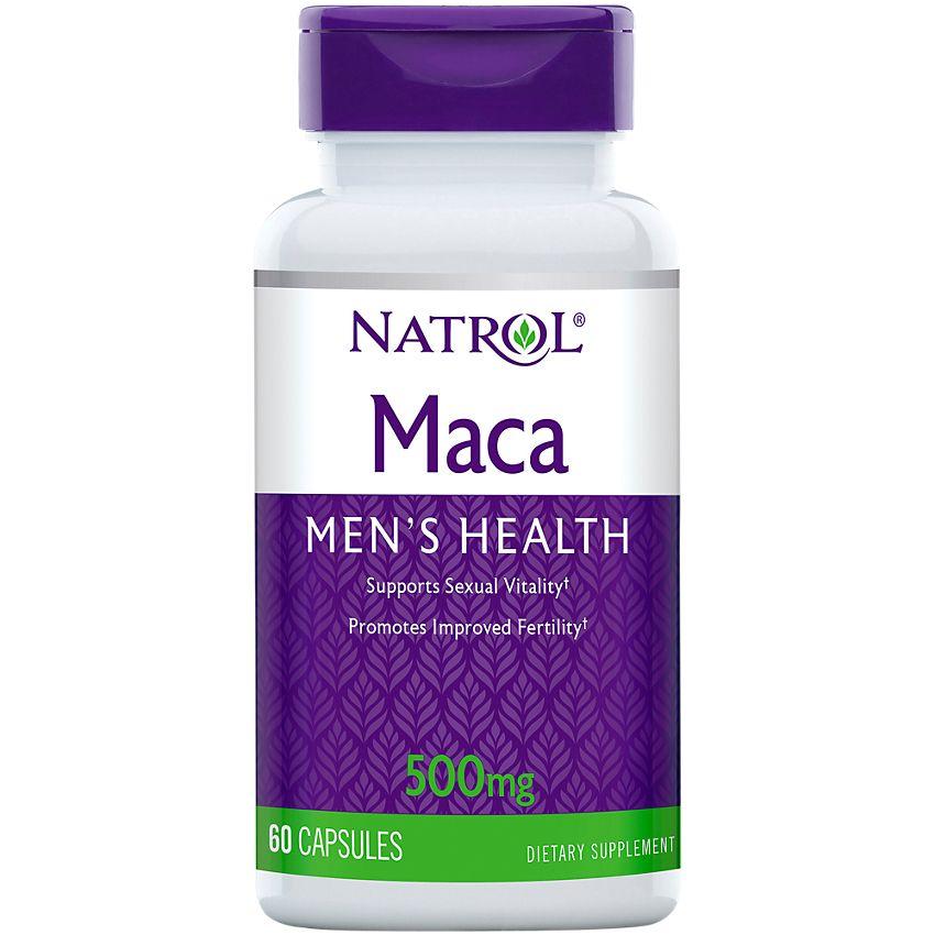 Купить NATROL Добавка биологически активная к пище Мака экстракт / Maca Extract 500 мг 60 капсул