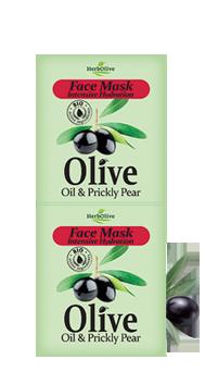 MADIS Маска для лица интенсивное увлажнение с кактусом / HerbOlive 2*8 млМаски<br>Содержит гиалуроновую кислоту и витамин Е. Хорошо увлажняет и питает кожу, придавая блеск и здоровый вид. Активные ингредиенты: масло оливы, гиалуроновая кислота и витамин Е . Способ применения: нанесите маску на чистую кожу. Оставьте на 10-15 минут и смойте большим количеством воды. Повторите 1-2 раза в неделю, в зависимости от результата. Подходит для всех типов кожи<br>