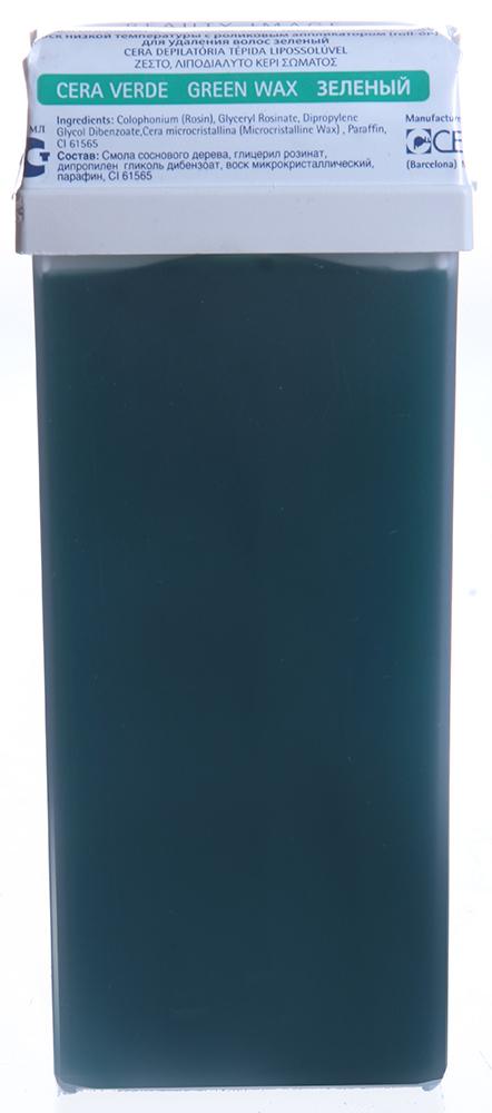 BEAUTY IMAGE Кассета с воском для тела Зеленый / ROLL-ON 110млВоски<br>Воск средней плотности с экстрактом водорослей. Для сухой кожи. Воск в кассетах roll-on изготовлен из натуральной древесной смолы и предназначен для депиляции на любых участках тела. При нанесении на кожу воск мгновенно остывает до температуры тела, не оказывая выраженного теплового воздействия. Теплый воск наносится на кожу тонким прозрачным слоем и хорошо сцепляется даже с маленькими волосками и удаляется только с помощью специальной бумаги. Воск в кассетах системы roll-on разогревается в нагревателе-аппликаторе в течение 15-20 минут до жидкого состояния (около 40-45 градусов). Нагреватель-аппликатор Beauty Image имеет вмонтированный терморегулятор, благодаря которому поддерживается оптимальная температура воска и исключается возможность ожога. На зону депиляции воск наносят, не вынимая кассету из нагревателя, при этом необходимо отключить аппарат от электросети. Наносится теплый воск всегда по росту волос, а удаляется против роста с помощью специальной бумаги. После процедуры остатки воска удаляются цветочным маслом Beauty Image. Активные ингредиенты: Смола натуральная, гидрогенезированный розинат, лимонен, диоксид титана Следуйте инструкциям, указанным на упаковке. Перед использованием сделайте ТЕСТ НА ЧУВСТВИТЕЛЬНОСТЬ КОЖИ, нанеся воск на небольшой участок кожи в том месте, где будете удалять волосы, следуя инструкции по применению. Если в течении 24 часов не появилось раздражение, воск можно использовать. &amp;bull; Кожа должна быть чистой, сухой, без крема или масла. &amp;bull; Удаляемые волосы должны быть оптимальной длины - не менее 5 - 7 мм &amp;bull; Эпиляция не проводится, если кожа травмирована или на ней имеется раздражение или последствия солнечного ожога. &amp;bull; Если на участке тела, где проводится эпиляция имеются накожные доброкачественные новообразования (папилломы, бородавки), то не следует наносить воск на эти образования. &amp;bull; Биоэпиляция не проводится после ванны,