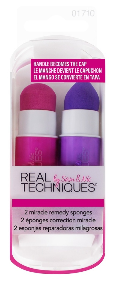REAL TECHNIQUES Набор из двух спонжей для макияжа / 2 Miracle Remedy Sponges - Спонжи