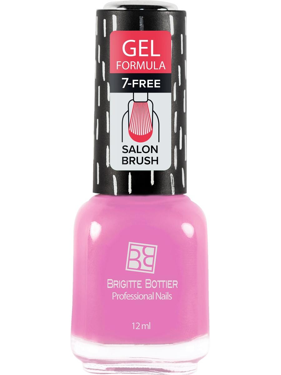 BRIGITTE BOTTIER 67 лак для ногтей гелевый, средне-розовый / GEL FORMULA 12 мл лаки для ногтей isadora лак для ногтей гелевый gel nail lacquer 247 6 мл