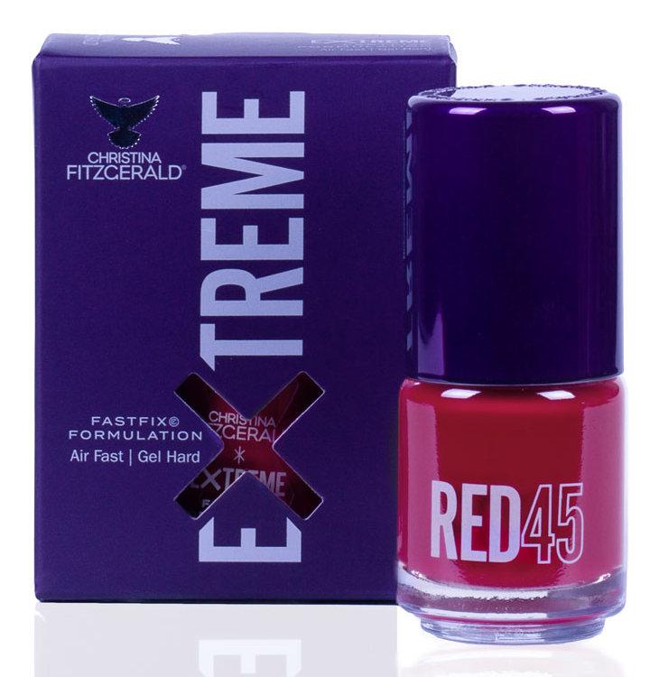 Купить CHRISTINA FITZGERALD Лак для ногтей 45 / RED EXTREME 15 мл, Красные