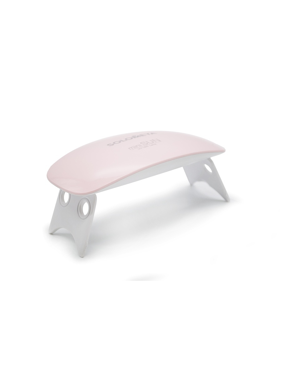 SOLOMEYA UV/LED-лампа mini SUN (6Вт) розовая / UV/LED ЛАМПА mini SUN (6W) розовая / Solomeya