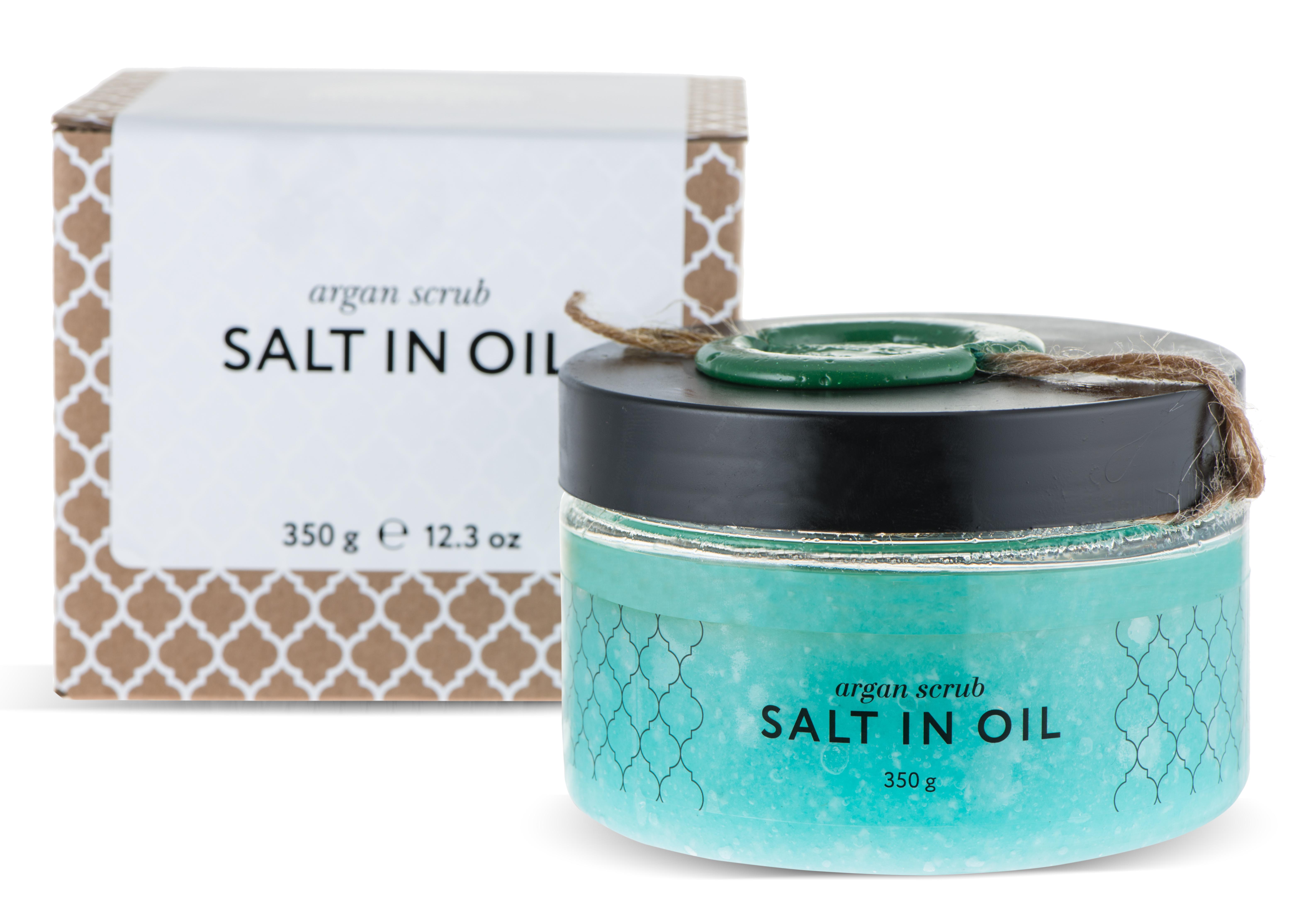 HUILARGAN Скраб аргановый солевой для тела, salt in oil 350 г