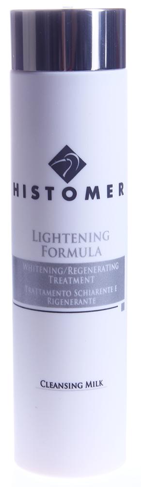 HISTOMER Молочко очищающее / Cleansing Milk LIGHTENING FORMULA 200млМолочко<br>Назначение: cмываемое молочко нежно очищает, осветляет кожу и готовит ее к блаженству ухода от LIGHTENING FORMULA. Активные ингредиенты: экстракты корня дуба черешчатого, белой лилии, коры ивы, масло сладкого миндаля, Repair Complex CLR &amp;ndash; лизат бифидоферментов, смесь биологических веществ, полученных методом биофрагментации; гидролизированный коллаген, лецитин, витамины С,Е, лимонная кислота. Способ применения: массирующими движениями нанести на лицо, смыть теплой водой.<br>