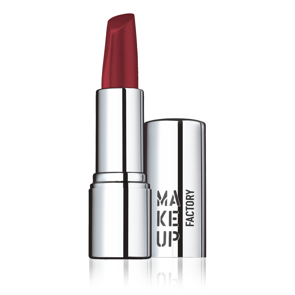 MAKE UP FACTORY Помада кремовая для губ, 156 красный / Lip Color 4 г помады make up factory кремовая помада для губ lip color 156 оттенок красный