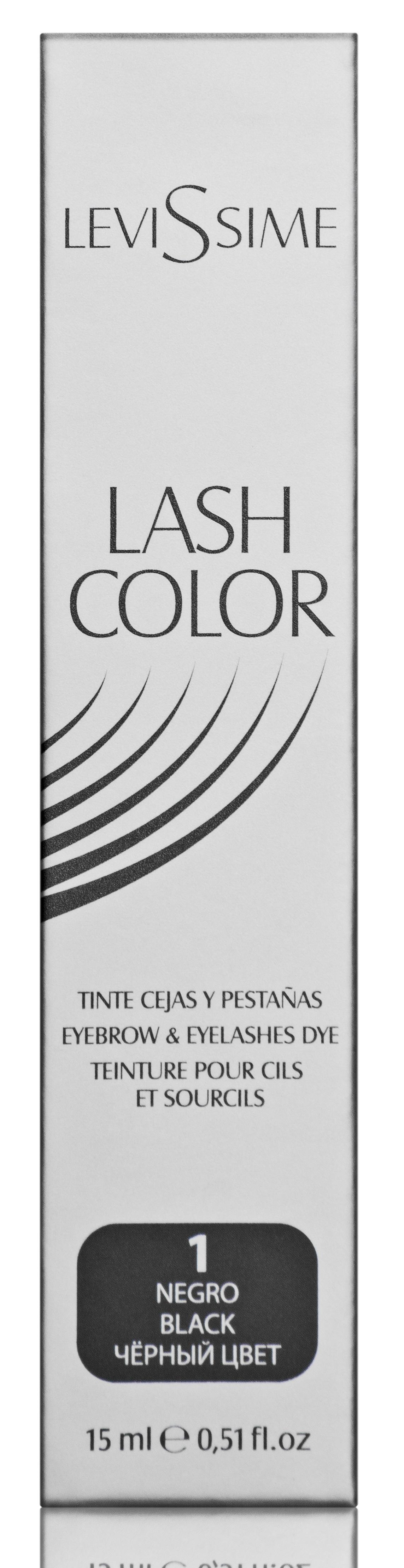 LEVISSIME Краска для бровей и ресниц, № 1 черный / Lash Color 15 мл -  Краски для бровей
