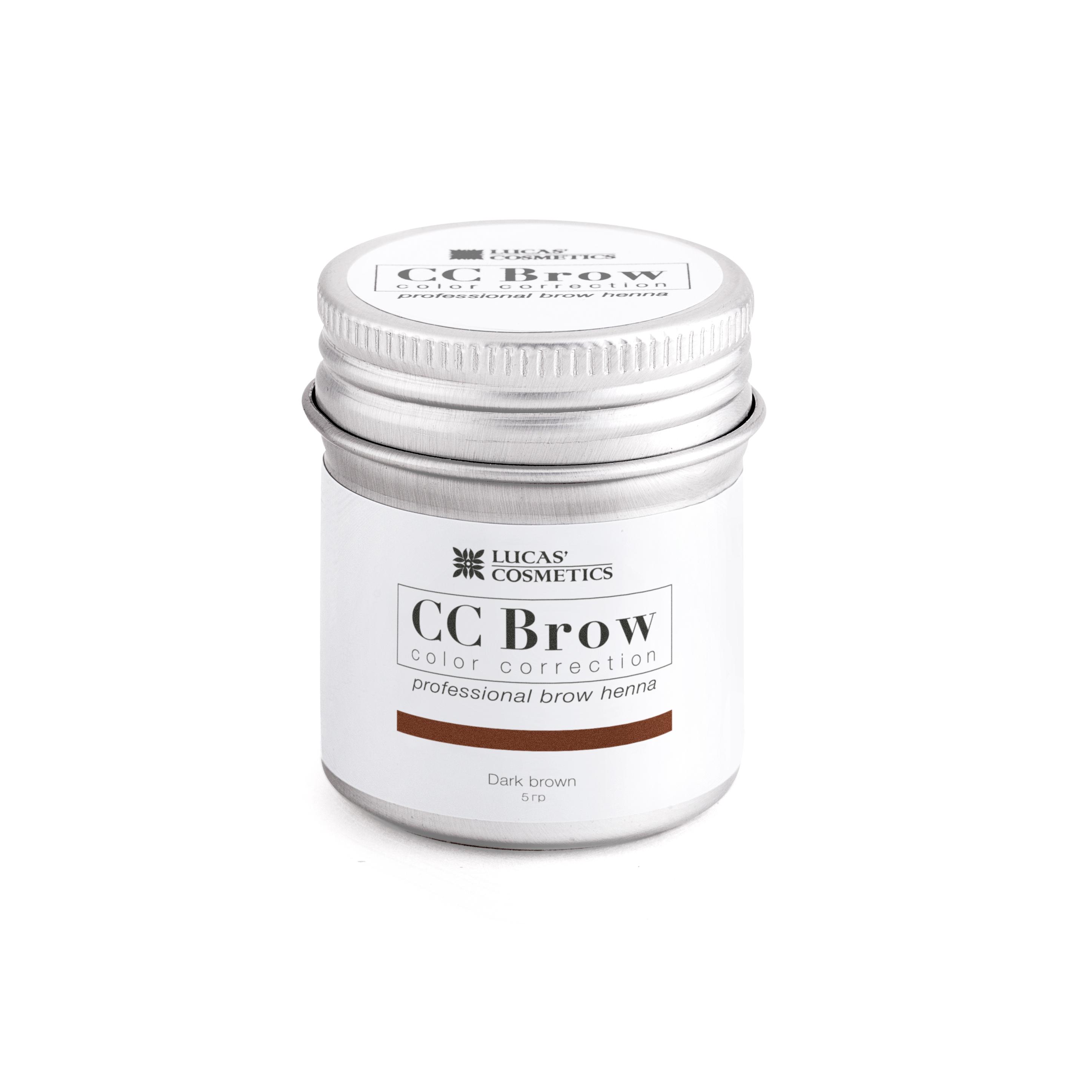 Lucas cosmetics хна для бровей, темно-коричневый (в баночке)