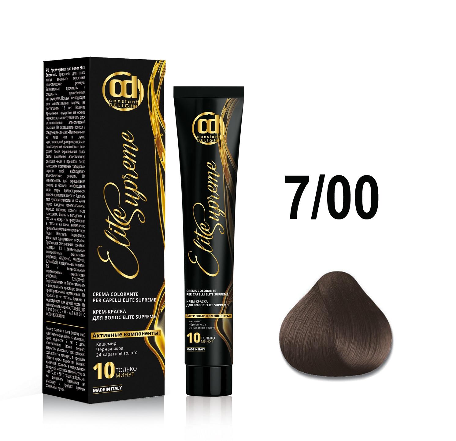 Купить CONSTANT DELIGHT 7/0 крем-краска для волос, блонд / ELITE SUPREME 100 мл, Блонд