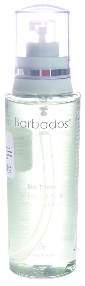 ANNA LOTAN Био тонер Барбадос / Bio Toner BARBADOS 100млТоники<br>Успокаивающий биотонер для лица и кожи головы обладает смягчающими, успокаивающими свойствами растительных экстрактов и лечебных трав, (сок Алоэ, жимолость, клопогон кистевидный), благодаря чему идеально подходит для чувствительной кожи, склонной к жирности(особенно в т-зоне). Средство клинически протестировано и абсолютно гипоаллергенно. Наилучший результат достигается при совместном использовании с увлажняющим кремом Барбадос, который необходимо нанести сразу после био тонера.<br><br>Вид средства для лица: Успокаивающий