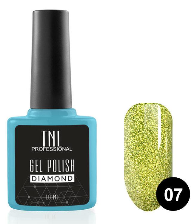 Купить TNL PROFESSIONAL 07 гель-лак для ногтей Хризолит / Diamond 10 мл, Желтые