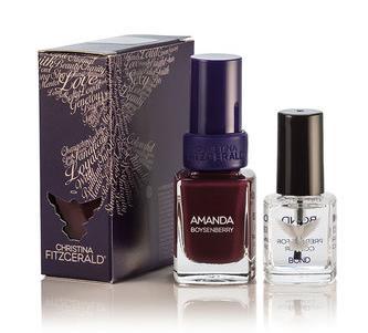 CHRISTINA FITZGERALD Лак для ногтей Бойзенова ягода + BOND / Amanda 12 9 мл