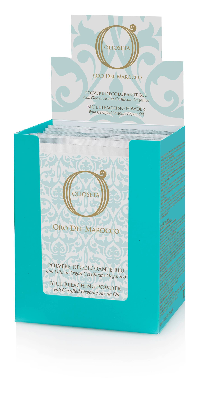 BAREX Порошок голубой с органически сертифицированным аргановым маслом / SPA COLOR OLIOSETA ORO DEL MOROCCO 12*30 г