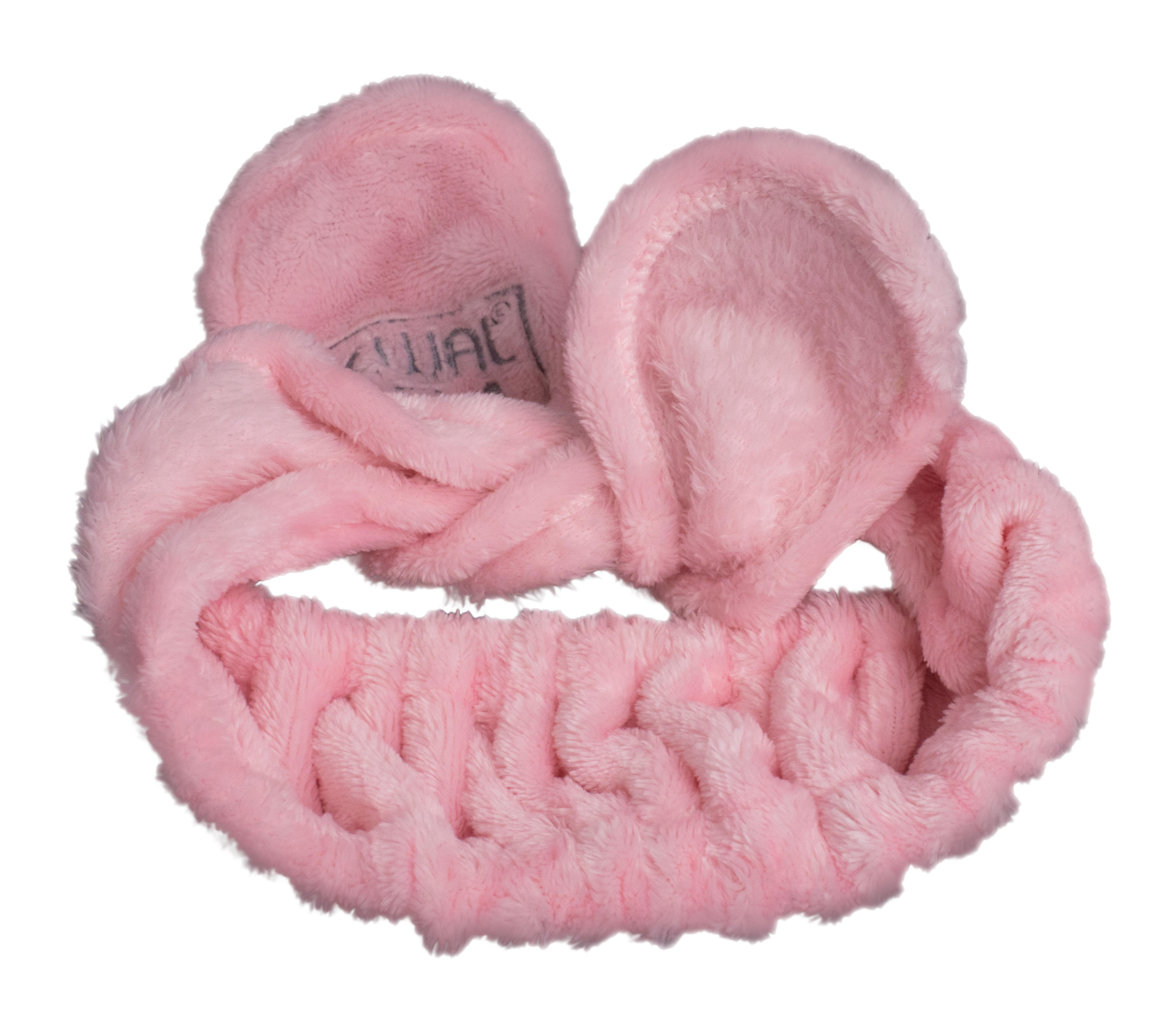 DEWAL BEAUTY Повязка на голову завязка, розовая