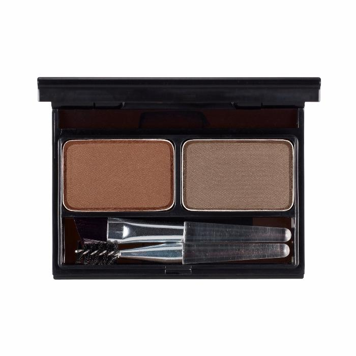 It'S SKIN Палетка для бровей Итс Топ Профешнл, 02 коричневый+серо-коричневый / It's Top Professional Eyebrow Cake 02 Choco Brown+Gray Brown 2 х 2 г