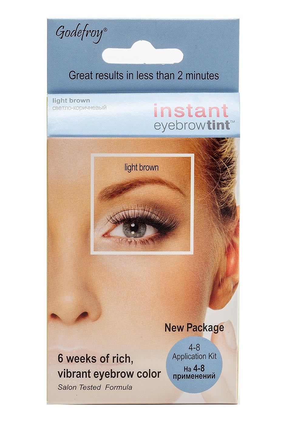 GODEFROY Краска-хна синтетическая в капсулах для бровей, набор (свело-корич) 4 шт / Godefroy Eyebrow Tint Light Brown