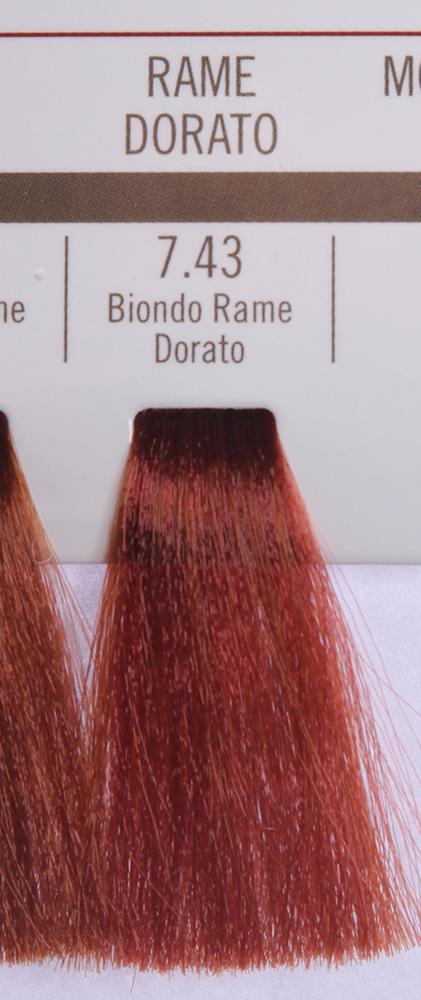 BAREX 7.43 краска для волос / PERMESSE 100млКраски<br>Оттенок: Блондин медно-золотистый. Профессиональная крем-краска Permesse отличается низким содержанием аммиака - от 1 до 1,5%. Обеспечивает блестящий и натуральный косметический цвет, 100% покрытие седых волос, идеальное осветление, стойкость и насыщенность цвета до следующего окрашивания. Комплекс сертифицированных органических пептидов M4, входящих в состав, действует с момента нанесения, увлажняя волосы, придавая им прочность и защиту. Пептиды избирательно оседают в самых поврежденных участках волоса, восстанавливая и защищая их. Масло карите оказывает смягчающее и успокаивающее действие. Комплекс пептидов и масло карите стимулируют проникновение пигментов вглубь структуры волоса, придавая им здоровый вид, блеск и долговечность косметическому цвету. Активные ингредиенты:&amp;nbsp;Сертифицированные органические пептиды М4 - пептиды овса, бразильского ореха, сои и пшеницы, объединенные в полифункциональный комплекс, придающий прочность окрашенным волосам, увлажняющий и защищающий их. Сертифицированное органическое масло карите (масло ши) - богато жирными кислотами, экстрагируется из ореха африканского дерева карите. Оказывает смягчающий и целебный эффект на кожу и волосы, широко применяется в косметической индустрии. Масло карите защищает волосы от неблагоприятного воздействия внешней среды, интенсивно увлажняет кожу и волосы, т.к. обладает высокой степенью абсорбции, не забивает поры. Способ применения:&amp;nbsp;Крем-краска готовится в смеси с Молочком-оксигентом Permesse 10/20/30/40 объемов в соотношении 1:1 (например, 50 мл крем-краски + 50 мл молочка-оксигента). Молочко-оксигент работает в сочетании с крем-краской и гарантирует идеальное проявление краски. Тюбик крем-краски Permesse содержит 100 мл продукта, количество, достаточное для 2 полных нанесений. Всегда надевайте подходящие специальные перчатки перед подготовкой и нанесением краски. Подготавливайте смесь крем-краски и молочка-оксигента Permesse в не