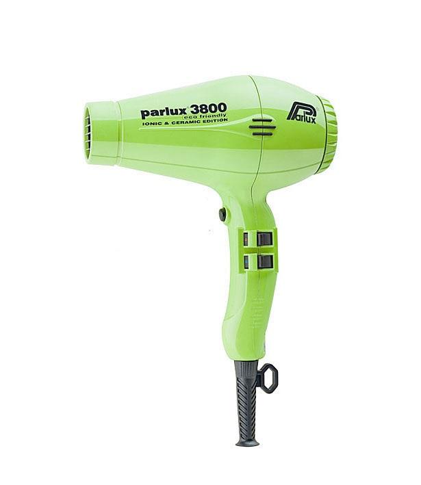 Купить PARLUX Фен Parlux 3800 Ceramic+Ionic салатовый, ионизация, 2 насадки 2100 Вт