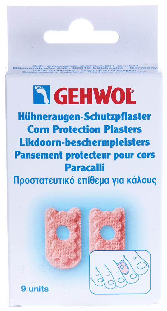 GEHWOL Пластырь мозольный 9штПластыри<br>Мозольный пластырь защитит кожу ног, если на ней имеются мозоли, волдыри и натоптыши, надежно предохранит поврежденные места от проникновения инфекции.  Уменьшая болевые ощущения в поврежденных местах и ускоряя заживление, благодаря специальному защитному слою.  Пластырь может использоваться при наличии некоторых проблем в спортивной обуви или обуви для танцев и как вспомогательное, профилактическое средство от натирании.  Изготовлен из мягкой ткани (молескин).  Удобен для аппликаций &amp;laquo;Мозольной настойки&amp;raquo;.  Способ применения: Закрепить пластырь в местах стоп, где имеются мозоли, волдыри и натоптыши.<br>