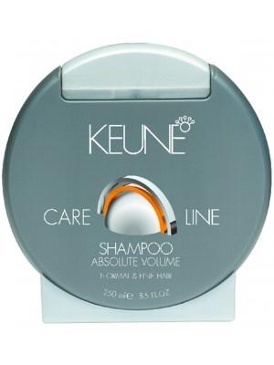 KEUNE Шампунь Кэе Лайн Абсолютный объем / CL VOLUME SHAMPOO 250млШампуни<br>Шампунь мягко очищает и придает дополнительный объем волосам, нисколько их не утяжеляя. Другим преимуществом является то, что волосы становится легче укладывать. Волосы становятся не только объемными, но, также, упругими и блестящими. Шампунь Объем мягко очищает кожу головы и волосы. Волосы легко расчесываются. Предназначен для тусклых и ослабленных волос. Активный состав: Биомины: Оживляют волосы и кожу головы. Пантенол: Глубоко проникает в ствол волоса и утолщает ствол волоса. Протеины: Придают волосам объем и форму. Применение: Нанести необходимое количество шампуня на волосы, массировать волосы. Тщательно сполоснуть. Снова нанести небольшое количество шампуня и массировать кончиками пальцев волосы и кожу головы в течение 2-х минут. Тщательно смыть.<br><br>Объем: 250<br>Типы волос: Ослабленные
