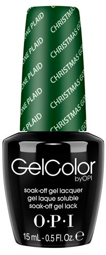 "OPI Гель-лак для ногтей ""Christmas Gone Plaid"" / GELCOLOR 15мл~"