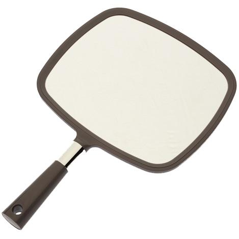 DEWAL PROFESSIONAL Зеркало заднего вида с ручкой, пластик, серое 33,5х23 см