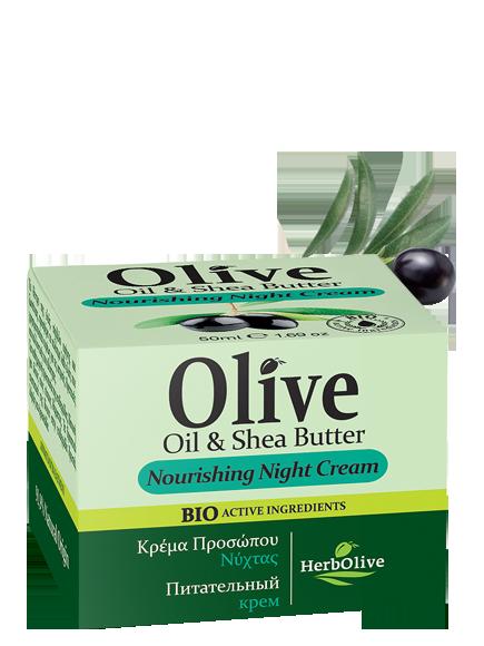 MADIS Крем ночной питательный с маслом ши / HerbOlive 50 млКремы<br>Оливковое дерево, символ мира и жизненных сил, предлагает драгоценное оливковое масло, которое широко используется для медицинских и косметических целей. Ночью, такие активные ингредиенты, как оливковое масло, масло ши и пантенол обеспечивают увлажняющее и омолаживающее действие на кожу. Активные ингредиенты: масло оливы, масло ши и пантенол. Способ применения: ежедневно.<br><br>Объем: 50 мл<br>Вид средства для лица: Питательный<br>Время применения: Ночной