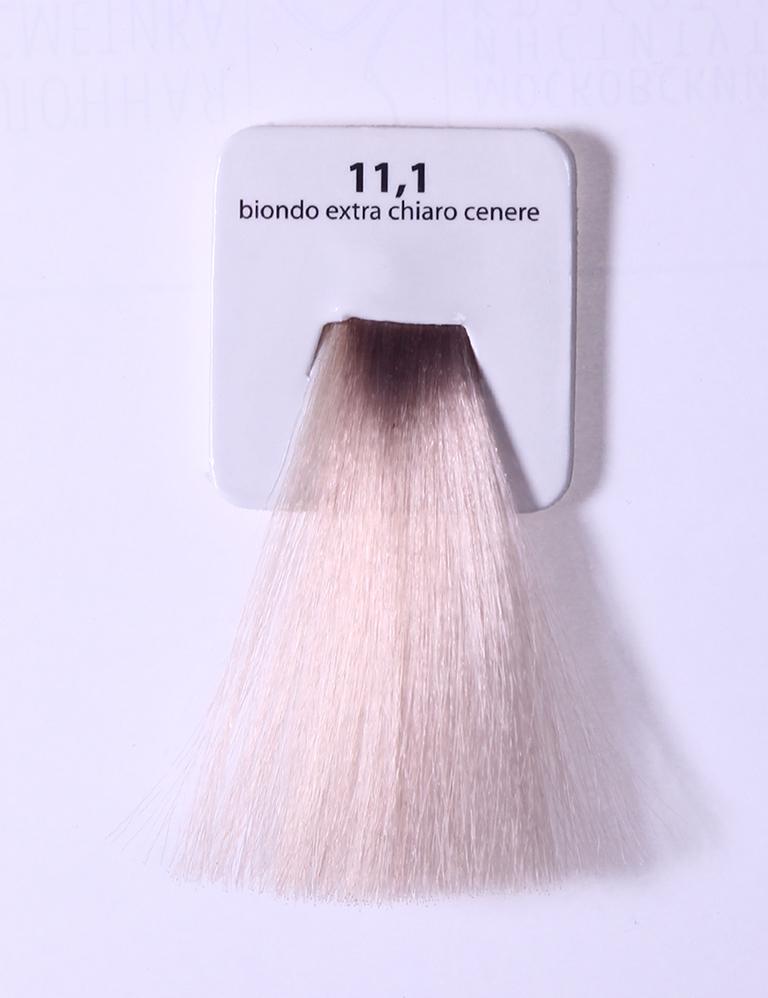 KAARAL 11.1 краска для волос / Sense COLOURS 100млКраски<br>11.1 экстра светлый пепельный блондин Перманентные красители. Классический перманентный краситель бизнес класса. Обладает высокой покрывающей способностью. Содержит алоэ вера, оказывающее мощное увлажняющее действие, кокосовое масло для дополнительной защиты волос и кожи головы от агрессивного воздействия химических агентов красителя и провитамин В5 для поддержания внутренней структуры волоса. При соблюдении правильной технологии окрашивания гарантировано 100% окрашивание седых волос. Палитра включает 93 классических оттенка. Способ применения: Приготовление: смешивается с окислителем OXI Plus 6, 10, 20, 30 или 40 Vol в пропорции 1:1 (60 г красителя + 60 г окислителя). Суперосветляющие оттенки смешиваются с окислителями OXI Plus 40 Vol в пропорции 1:2. Для тонирования волос краситель используется с окислителем OXI Plus 6Vol в различных пропорциях в зависимости от желаемого результата. Нанесение: провести тест на чувствительность. Для предотвращения окрашивания кожи при работе с темными оттенками перед нанесением красителя обработать краевую линию роста волос защитным кремом Вaco. ПЕРВИЧНОЕ ОКРАШИВАНИЕ Нанести краситель сначала по длине волос и на кончики, отступив 1-2 см от прикорневой части волос, затем нанести состав на прикорневую часть. ВТОРИЧНОЕ ОКРАШИВАНИЕ Нанести состав сначала на прикорневую часть волос. Затем для обновления цвета ранее окрашенных волос нанести безаммиачный краситель Easy Soft. Время выдержки: 35 минут. Корректоры Sense. Используются для коррекции цвета, усиления яркости оттенков, создания новых цветовых нюансов, а также для нейтрализации нежелательных оттенков по законам хроматического круга. Содержат аммиак и могут использоваться самостоятельно. Оттенки: T-AG - серебристо-серый, T-M - фиолетовый, T-B - синий, T-RO - красный, T-D - золотистый, 0.00 - нейтральный. Способ применения: для усиления или коррекции цвета волос от 2 до 6 уровней цвета корректоры добавляются в краситель по 