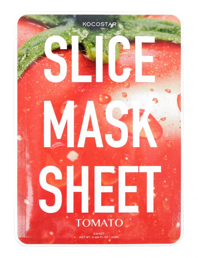KOCOSTAR Маска-слайс томат для лица / SLICE MASK SHEET (TOMATO) 20 мл тканевые маски и патчи kocostar маска слайс для лица алоэ вера 20мл