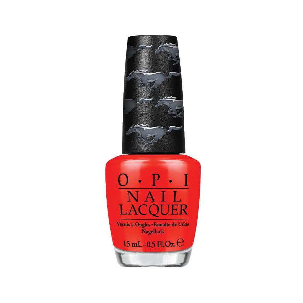 OPI Лак для ногтей NL - Race Red / Ford Mustang 15млЛаки<br>Race Red Гоночный красный - красный (звезда коллекции), отдает дань знаковому цвету Мустанга.<br><br>Цвет: Красные<br>Виды лака: Глянцевые
