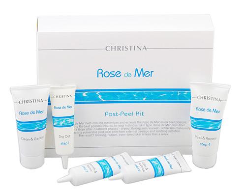 CHRISTINA Набор для постпилингового ухода Роз де Мер (5 препаратов) / Post Peeling Kit ROSE DE MER