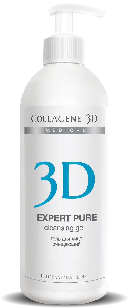 MEDICAL COLLAGENE 3D Гель очищающий для лица / EXPERT PURE 500млГели<br>Для очищения комбинированной и склонной к повышеному выделению себума кожи, очищает от любых видов загрязнений, не оставляет ощущения стянутости. Сужает поры и деликатно отшелушивает ороговевшие клетки. Активные ингредиенты: натуральный сок апельсина, натуральный сок грейфрута, натуральный сок яблока, натуральный сок киви.<br><br>Вид средства для лица: Очищающий<br>Назначение: Расширенные поры