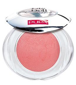 PUPA Румяна запеченные 203 Like A Doll Luminys Blush нежный бежево-розовый, 3,5грРумяна<br>Цвет - DELICATE BEIGE PINK. Мягкая шелковистая текстура, обогащенная мелкими драгоценными жемчужинками, подсвечивает кожу и придает лучезарность. Способ применения: подсвечивающий эффект рекомендуется для менее пористой, нормальной и сухой кожи, поскольку жемчужинки в составе румян делают поры заметнее. Низкий риск возникновения аллергии. Дерматологически тестированы. Без парабенов.<br><br>Объем: 3,5 гр