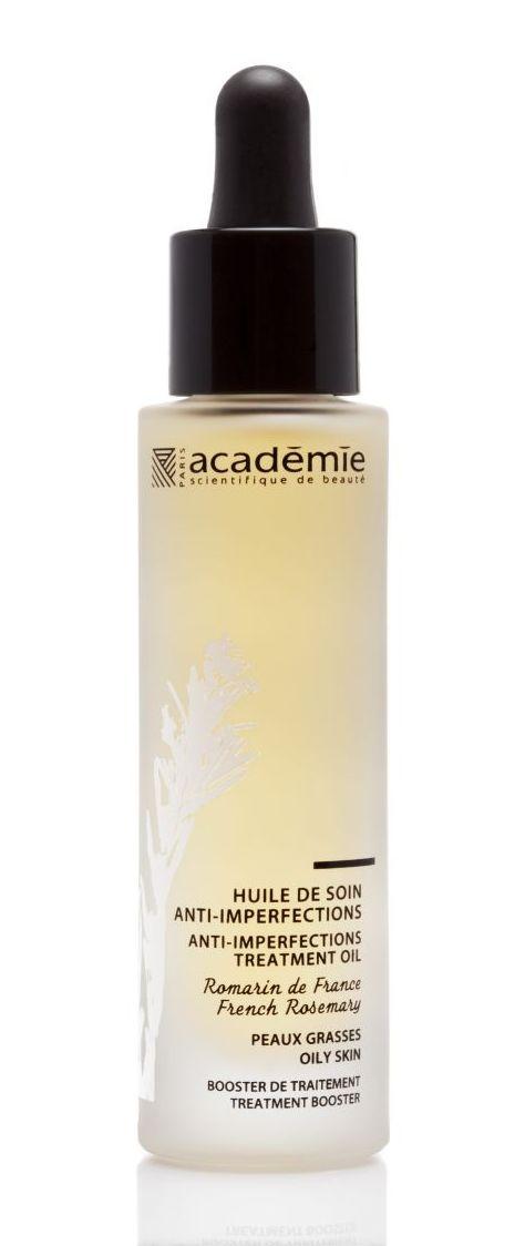 ACADEMIE Масло-уход для проблемной кожи / AROMATHERAPIE 30млМасла<br>Масло используется для проблемной кожи комбинированного и жирного типов. Обладает оздоравливающим действием, снимает покраснение, очищает и освежает кожу. Масла, входящие в состав композиции, имеют природное противомикробное действие, купируя воспалительный процесс. Результат: Чистая, ровная кожа без воспалений. Активные ингредиенты: растительный комплекс 10,06%: эссенциальное масло древесины французского можжевельника, эссенциальное масло розмарина, экстракт овернских анютиных глазок, экстракт альпийской перечной мяты. Способ применения:&amp;nbsp;нанести масло на чистую кожу после этапа тонизирования, впитать легкими движениями. Далее нанести дневной или ночной уход по типу кожи.<br>