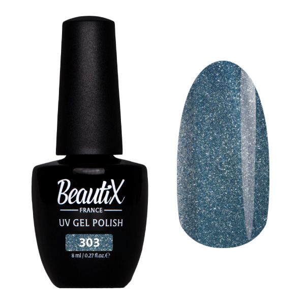 Купить BEAUTIX 303 гель-лак для ногтей 8 мл, Серые