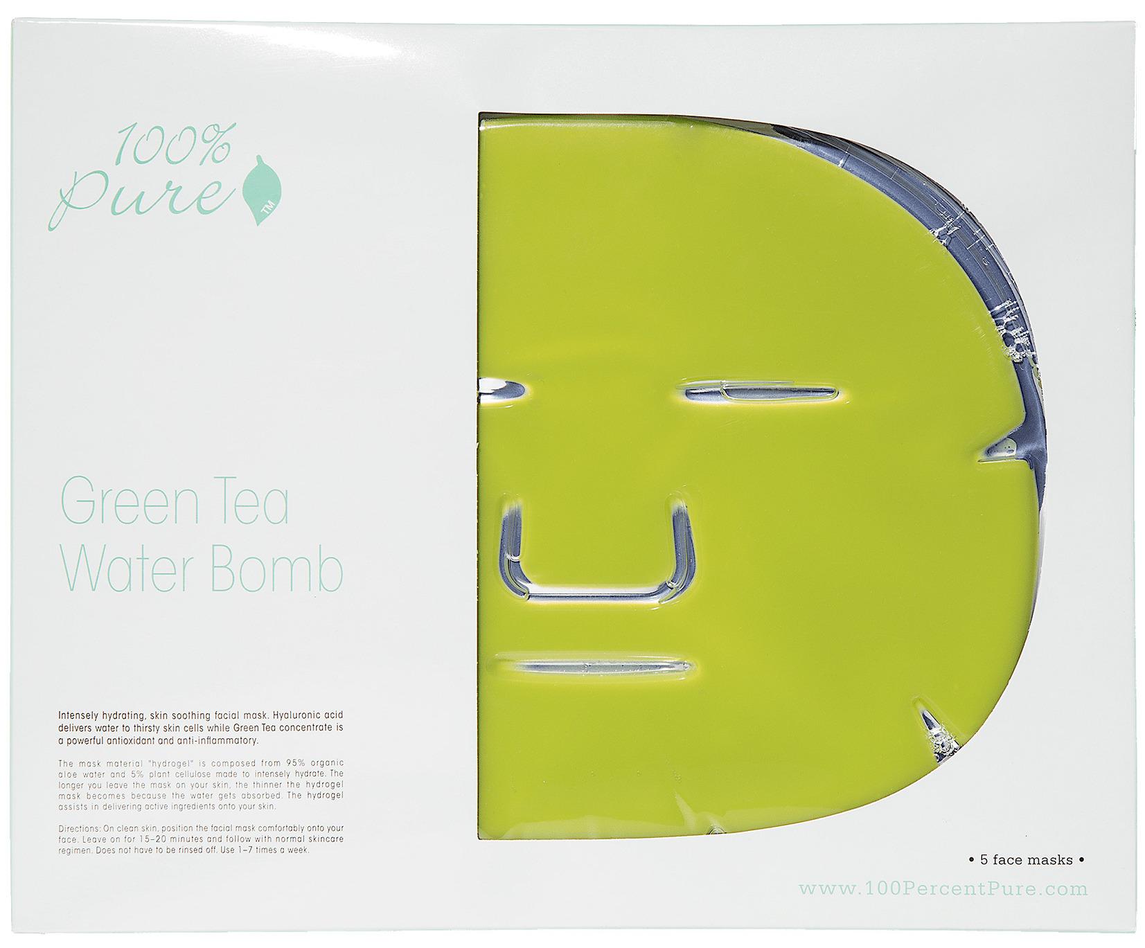 100% PURE Маска восстанавливающая для лица Зеленый чай 5*60 г