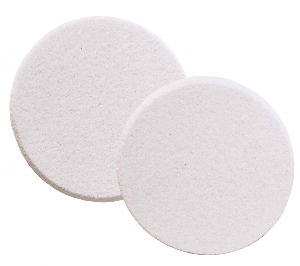 Dewal beauty губка для нанесения макияжа круглая, белая 2 шт