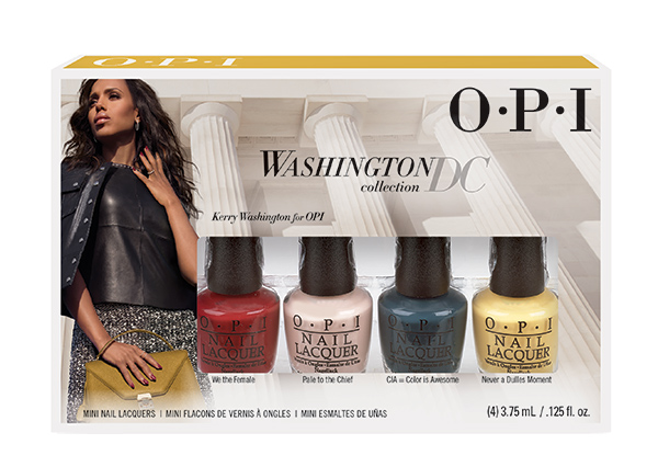 OPI Мини лаки из коллекции Washington (4*3,75 мл NLW53/W56/W57/W64)Лаки<br>Набор из 4-х мини лаков коллекция Washington/Вашингтон, оттенки: NLW53 CIA = Color Is Awesome,&amp;nbsp; NLW56 Лак для ногтей Never a Dulles Moment,&amp;nbsp; NLW57 Pale to the Chief,&amp;nbsp; NLW64 We the Female<br>