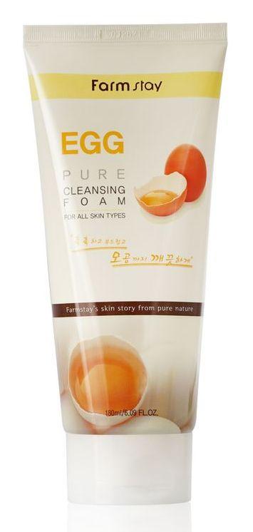 Купить FARMSTAY Пенка очищающая с яичным экстрактом / PURE CLEANSING FOAM 180 мл