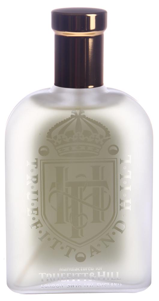 TRUEFITT HILL Одеколон Spanish Leather 100млПосле бритья<br>Насыщенная, при этом весьма утонченная композиция из ароматов дерева, кожи и пряностей, напоминающая дух старой Гранады и Кастилии. Очень мужественный, мускусный аромат, основанный на запахе кожи. Активные ингредиенты: Ароматическая композиция, дистилированная вода, этиловый спирт (объемная доля см. на упаковке).   Способ применения: Распылять на кожу с расстояния 15 см. Избегать попадания в глаза.<br><br>Объем: 100<br>Пол: Мужской