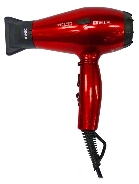 DEWAL PROFESSIONAL Фен Spectrum Compact красный, ионизация, 2 насадки, 2100 Вт плойка harizma professional h10219 glory фен плойка 1 шт