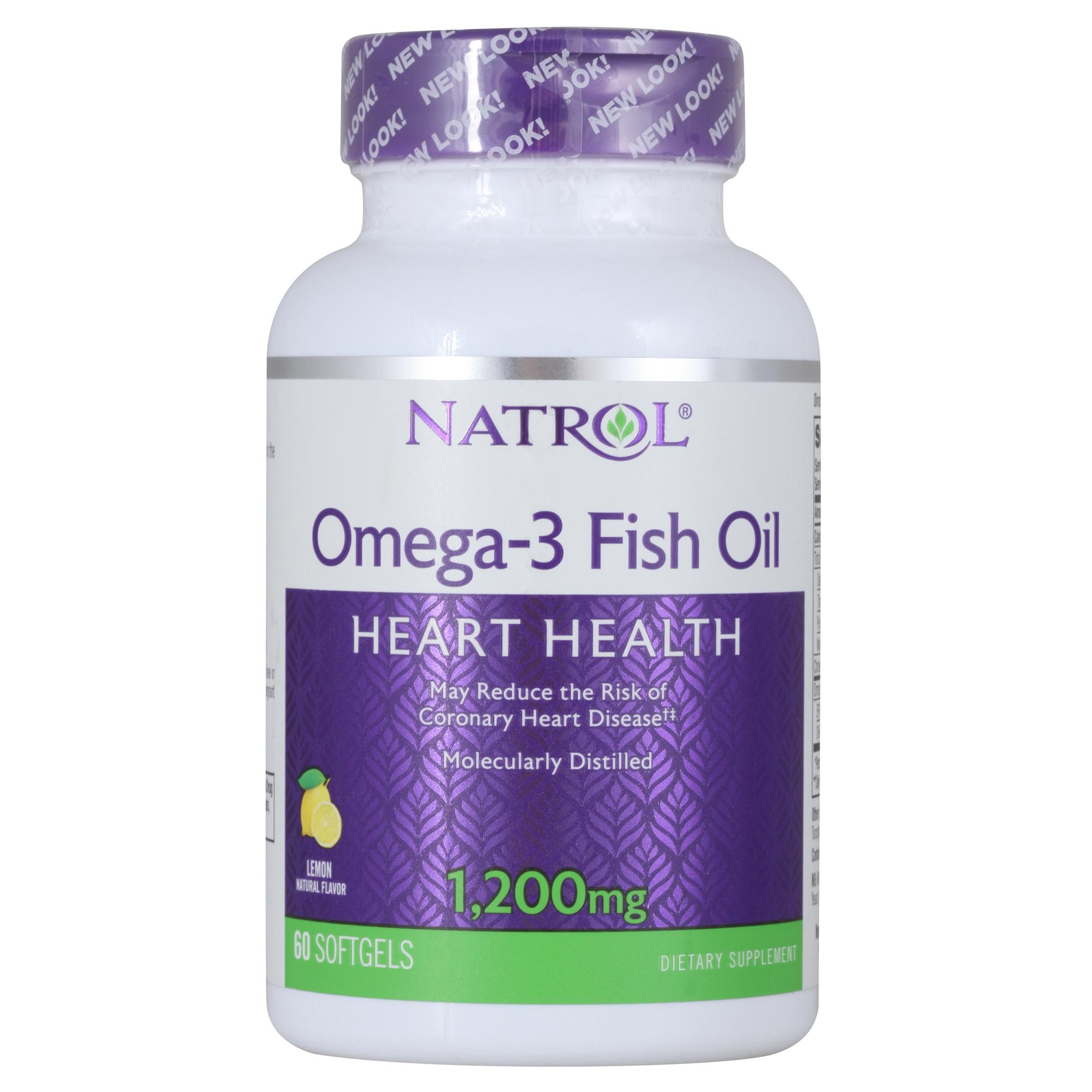 Купить NATROL Добавка биологически активная к пище Омега 3 рыбий жир софт гель / Omega-3 Fish Oil 1200 мг 60 капсул