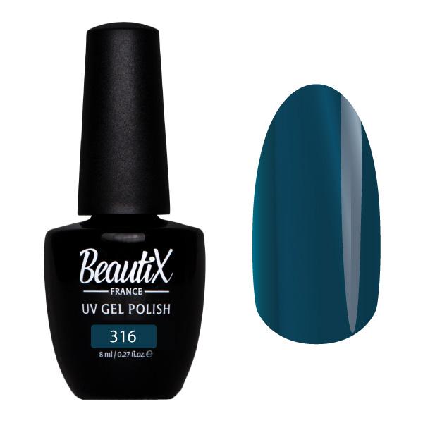 Купить BEAUTIX 316 гель-лак для ногтей 8 мл, Синие