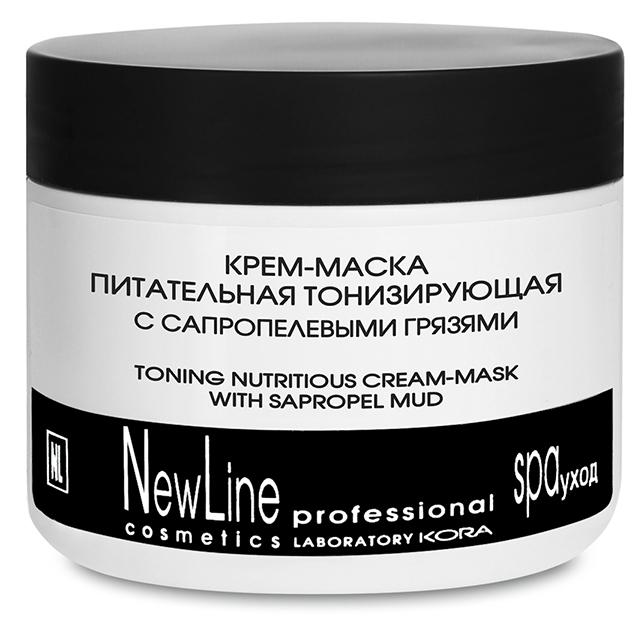 NEW LINE PROFESSIONAL Крем-маска питательная тонизирующая с сапропелевыми грязями 300мл