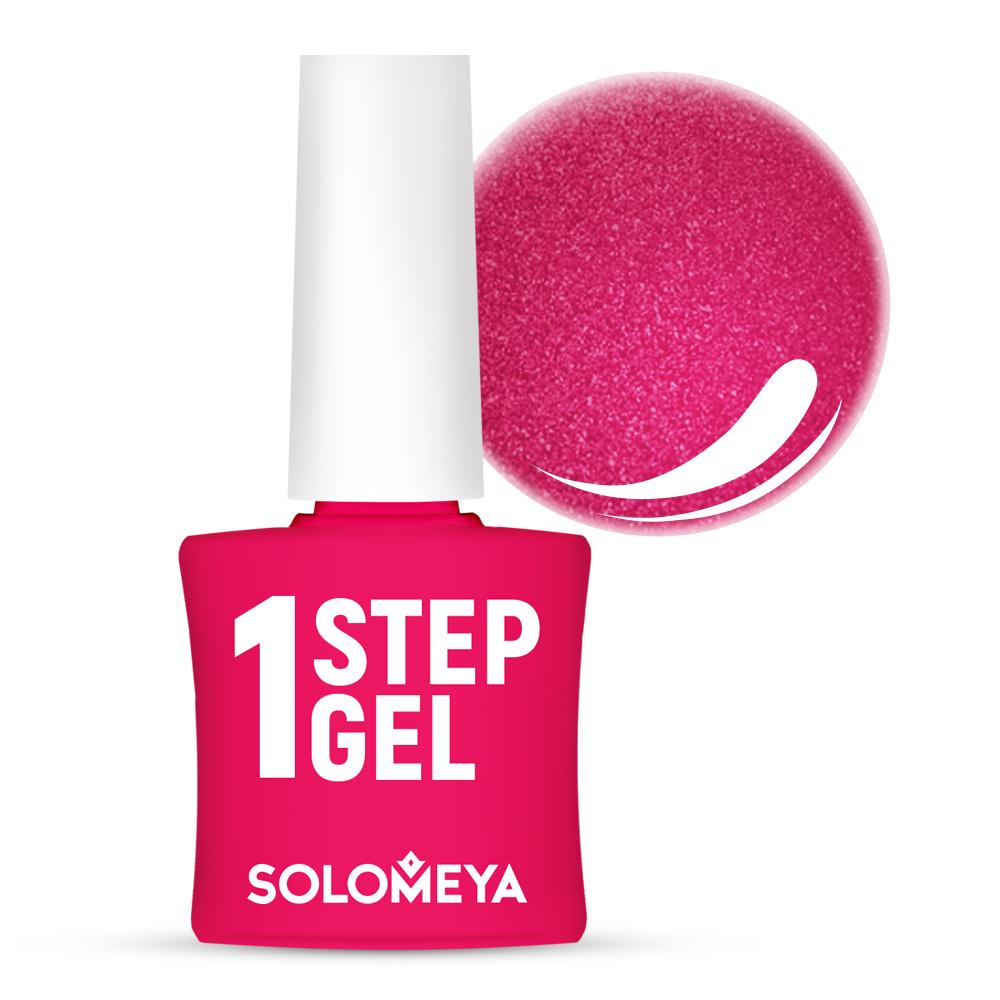 Купить SOLOMEYA Гель-лак однофазный для ногтей, 32 турмалин / One Step Gel Tourmaline 5 мл, Розовые