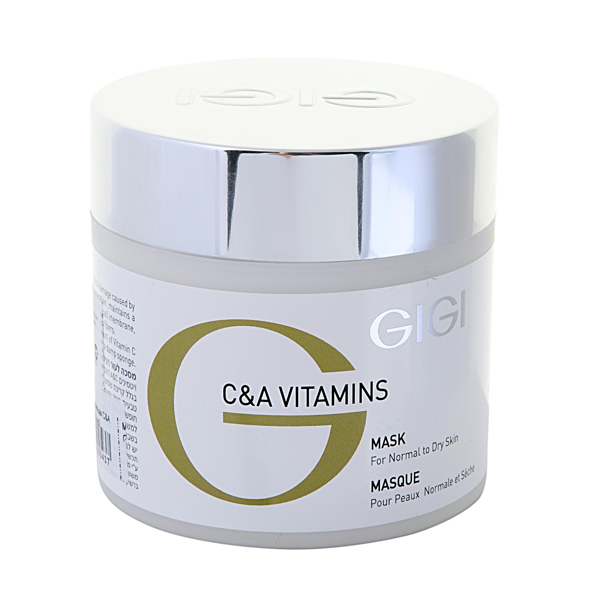 GIGI Маска регенерирующая / Mask VITAMINS C&amp;A 250млМаски<br>Уникальная витаминизированная маска для осветления и восстановления жизненно важных функций кожи. Действие: Витамины С и А являются сильнейшими антиоксидантами, стимулируют микроциркуляцию, защищают от свободных радикалов, насыщают клетки кислородом. Аскорбилфосфат магния и ретинол в комбинации с каолином, диоксидом титана и экстрактом гамамелиса осветляют и выравнивают тон кожи. Коллаген увлажняет, повышает тургор и эластичность кожи, предупреждает преждевременное старение. Масло семян бурачника восстанавливает гидро-липидную мантию кожи, и оказывает выраженное регенерирующее и омолаживающее действие. Хитозан, глюкозаминогликаны, пантенол и сквален глубоко увлажняют кожу, формируют защитную воздухопроницаемую пленочку, обладают хорошим ранозаживляющим действием и способствуют проникновению других активных веществ. Лицо выглядит отдохнувшим, свежим и гладким. На коже, ставшей нежной и матовой, макияж выполняется проще, выглядит ярче и держится дольше. Активные ингредиенты: Масло бурачника, сквален, пантенол, хитозан, диоксид титана, каолин, экстракт гамамелиса, витамин С, коллаген, глюкозаминогликаны, ретинилпальмитат, аскорбилфосфат магния. Способ применения: Нанести на очищенную кожу век и лица средним слоем и оставить на 15-20 минут. Смыть теплой водой. Хорошо использовать под термомоделирующую маску Биомарин или альгинатные маски Витамины С&amp;amp;A. Также замечательно подходит для работы с микротоковой терапией.<br><br>Объем: 250<br>Вид средства для лица: Восстанавливающий