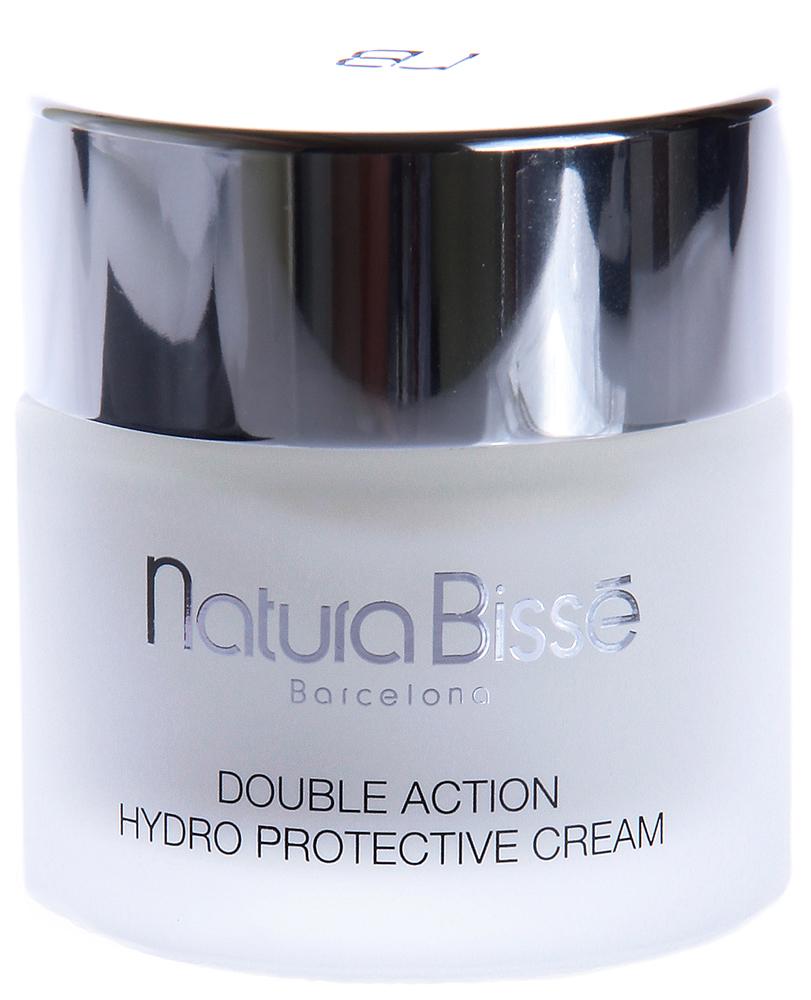 NATURA BISSE Крем увлажняющий двойного действия SPF10 / Double Action Hydro Protective Cream DRY SKIN REGIME 75млКремы<br>Double Action Hydro Protective Cream   восстанавливает гидратацию и упругость сухой кожи. Содержит высокоочищенные натуральные свободные аминокислоты белка коллагена. Масло авокадо, богатое витаминами А, D и Е, натуральный увлажняющий фактор и экстракт алоэ, входящие в состав крема, возвращают сухой коже утраченную влагу, уменьшают морщины, защищают от воздействия повреждающих факторов внешней среды (солнечные лучи, ветер, высокие и низкие температуры). Для защиты от вредного воздействия солнечного излучения крем содержит солнечный фильтр SPF 10. Активные ингредиенты (состав): Water (Aqua), Propylene Glycol, Decyl Oleate, C12-20 Acid PEG-8 Ester, Cetearyl Ethylhexanoate, Octyldodecanol, Glyceryl Stearate, Lanolin, Caprylic/Capric Triglyceride, Aloe Barbadensis Leaf Extract, Ethylhexyl Methoxycinnamate, Persea Gratissima (Avocado) Oil, Benzophenone-3, Rosa Canina Fruit Oil, Hydrolyzed Collagen, Allantoin, Sodium Chondroitin Sulfate, Sodium PCA, Triethanolamine, Cetyl Phosphate, Carbomer, BHT, Ascorbic Acid, Ascorbyl Palmitate, Citric Acid, Methylparaben, Imidazolidinyl Urea, Propylparaben, Sodium Benzoate, Fragrance (Parfum), Limonene, Geraniol, Hydroxycitronellal, Linalool, Citronellol, Cinnamyl Alcohol, Citral, Benzyl Benzoate, Caramel, Yellow 5 (CI 19140). Способ применения: наносить на предварительно очищенную кожу ежедневно (утром). Массировать до полного впитывания.<br><br>Объем: 75<br>Типы кожи: Сухая и обезвоженная<br>Назначение: Морщины