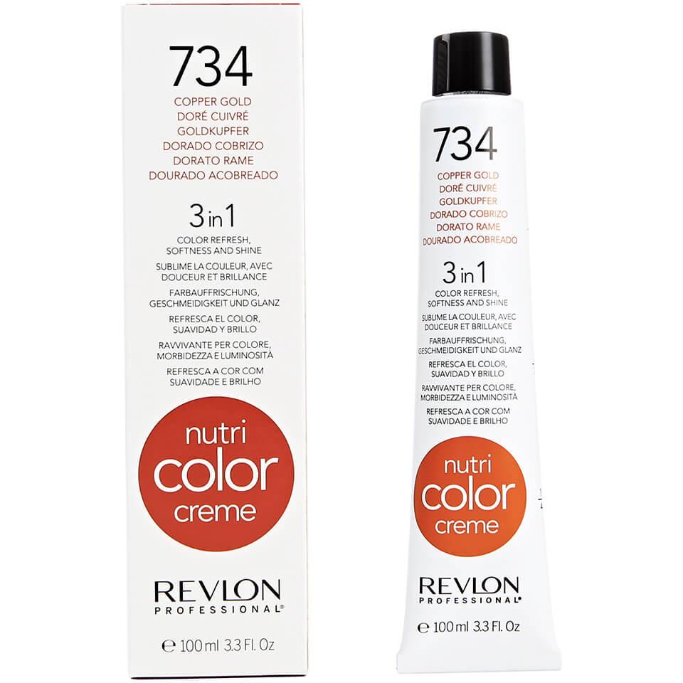 цена на REVLON Professional 734 краска 3 в 1 для волос, медно-золотистый / NUTRI COLOR CREME 100мл