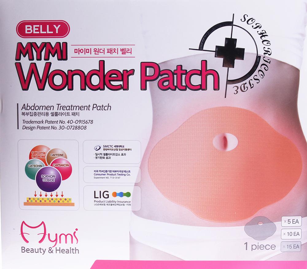 MYMI Патчи для похудения живота / Wonder Patch Belly MYMI 15штПластыри<br>Высокоэффективный пластырь для борьбы с лишними жировыми отложениями на животе. Содержит активные ингредиенты, расщепляющие жировые клетки. Пластырь незаметен под одеждой и может быть использован в любое время в течение 8 часов - пока вы спите, работаете или занимаетесь спортом. Помните, что для повышения эффективности действия пластыря следует придерживаться диеты и делать физические упражнения. Активные ингредиенты: Sophoricoside: натуральное запатентованное вещество с эффектами снижения веса и жировых отложений. Катехин: тормозит накопление жировых клеток и расщепляет их. Капсаицин: вырабатывается из сортов жгучего перца, предотвращает накопление жировых клеток и улучшает обменные процессы. Кофеин: уничтожает проявления целлюлита, расщепляя жировые клетки. Sallcornia herbacaa: уход за кожей. Способ применения: снимите среднюю часть пленки. Прикрепите к области пупка. Снимите обе стороны пленки и аккуратно приложите/прижмите к коже. Удерживайте пластырь еще в течение 2 ~ 3 минут, удалите его через 6 ~ 8 часов в горизонтальном направлении.<br><br>Назначение: Целлюлит